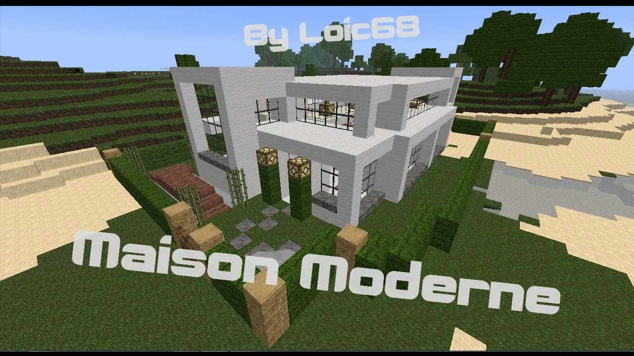 Maison moderne facile sur minecraft t l chargement for Plan maison minecraft moderne