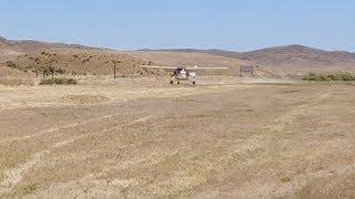 Mercey Hot Springs, CA dirt airstrip landing