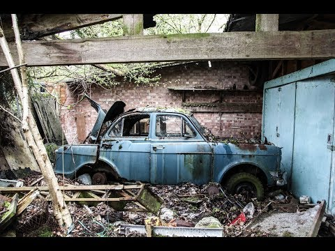 Abandoned British Car Graveyard & House - Old Mini, Bedford CA, Riley Etc