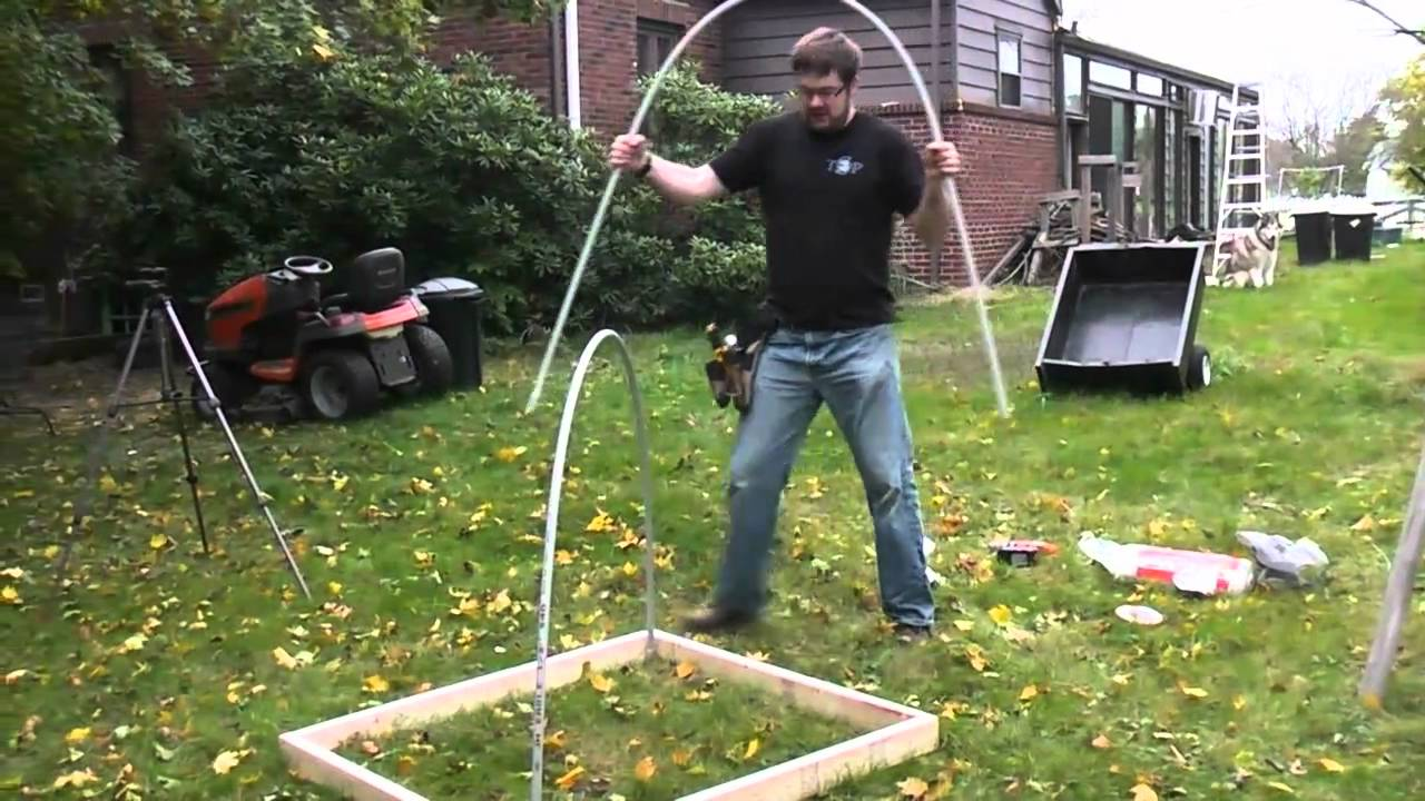 diy pvc green house cold frame youtube