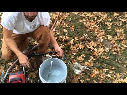 How to clean the paint sprayer