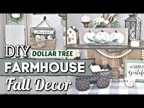 Dollar Tree FARMHOUSE FALL DIYS | Dollar Store Fall Decor Ideas | Krafts by Katelyn