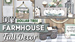 Dollar Tree FARMHOUSE FALL DIYS   Dollar Store Fall Decor Ideas   Krafts by Katelyn