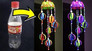 DIY Wind Chime Using Plastic Bottle - Easy Best Out of Waste Wind Chime Idea - Home Decor