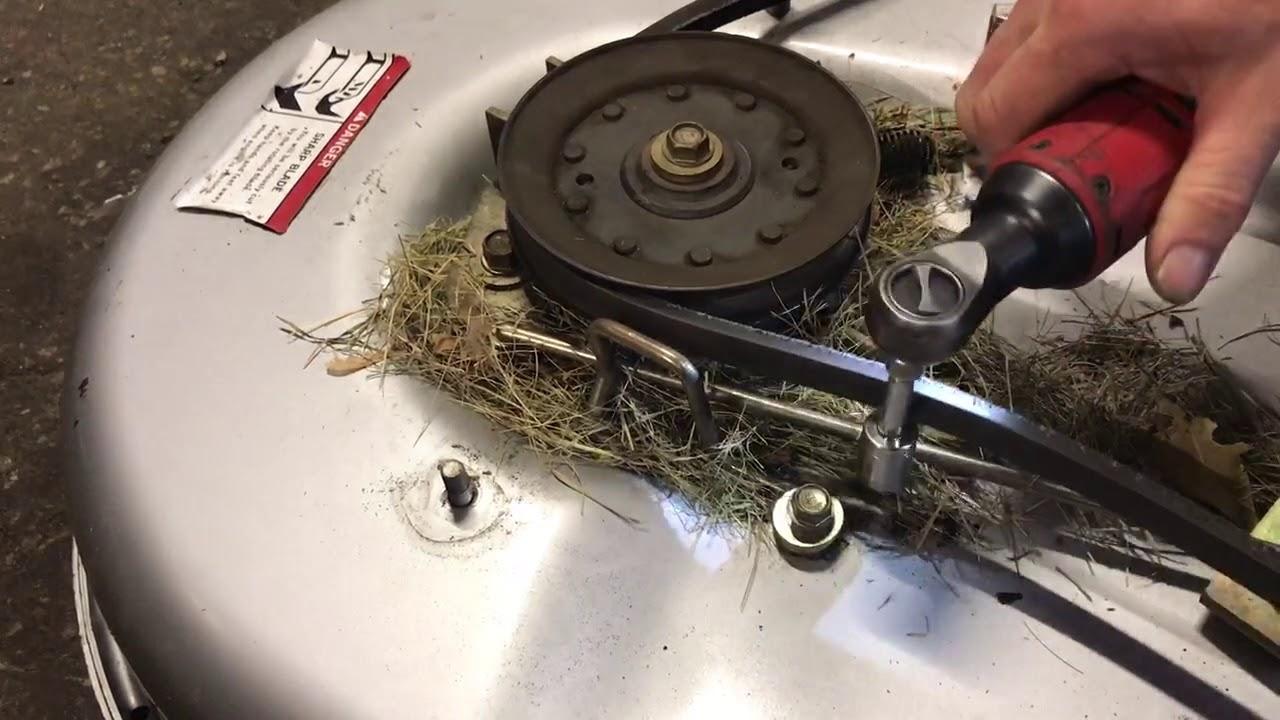 how to install a blade belt on a honda harmony 2013