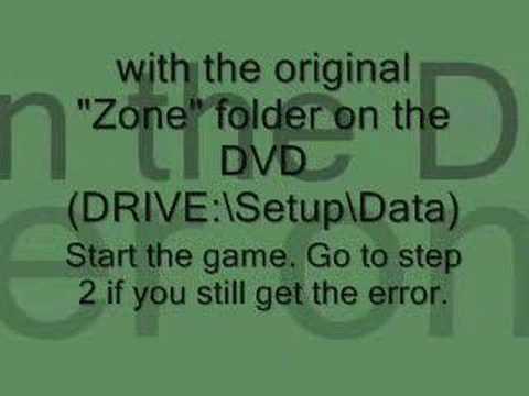 Call fo Duty 4: Modern Warfare fastfile error (code 107)