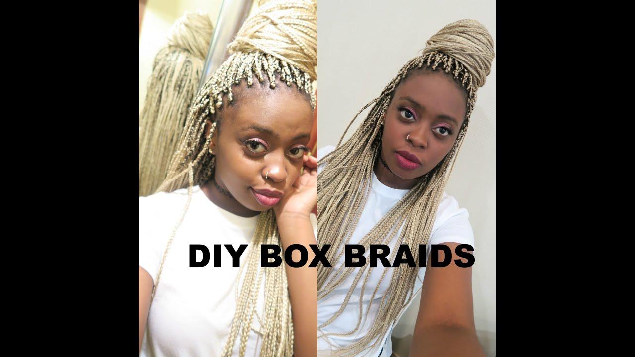 HOW TO: DIY BOX BRAIDS TUTORIAL W/ 100% KANEKALON HAIR STEP BY STEP ...