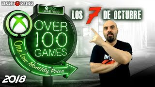 Xbox Game Pass Los 7 titulos de Octubre, October´s 7 Game Pass titles |MondoXbox