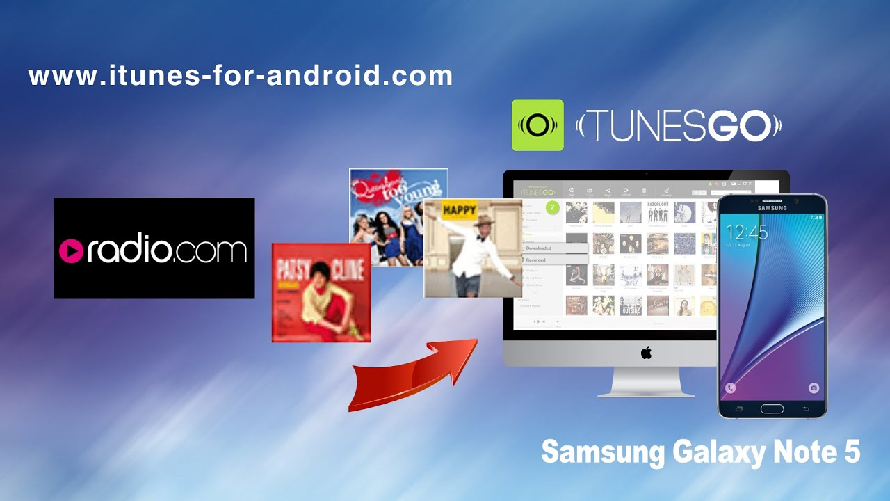 How to Free Download Music from Radio com to Samsung Galaxy Note 5 | Note 4  | Note 3 on Mac