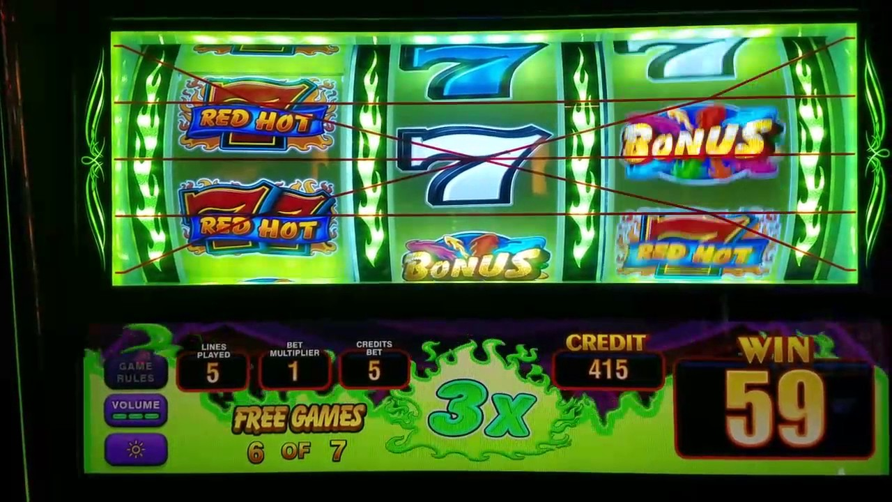 Red hot seven slot machine