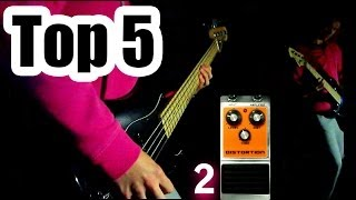 top 5 - BASS DISTORTION effects in AmpliTube 3