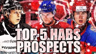 Top 5 Habs Prospects Going Into The Season (Montreal Canadiens Top Prospects / NHL Prospects 2019)