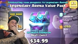 Cash Royale ULTIMATE CHAMPION DRAFT CHEST opening (+ ARENA 11 anniversary offer!)