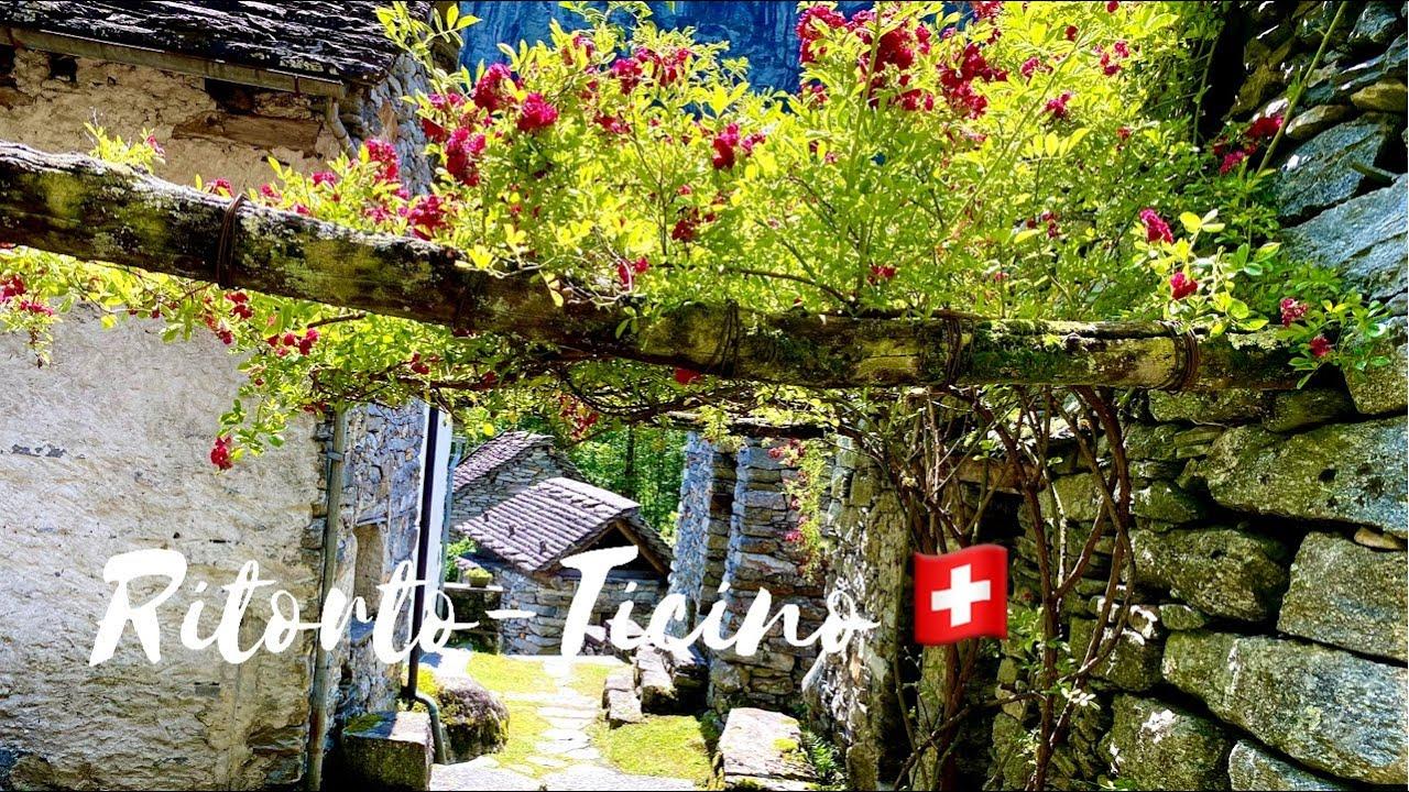 Ritorto - Stone - Medieval Village in Ticino-Switzerland 🇨🇭   Swiss Romantic ❤️ Village   4k