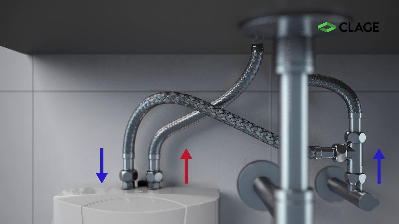 mbh installation de petit chauffe eau instantane sous le