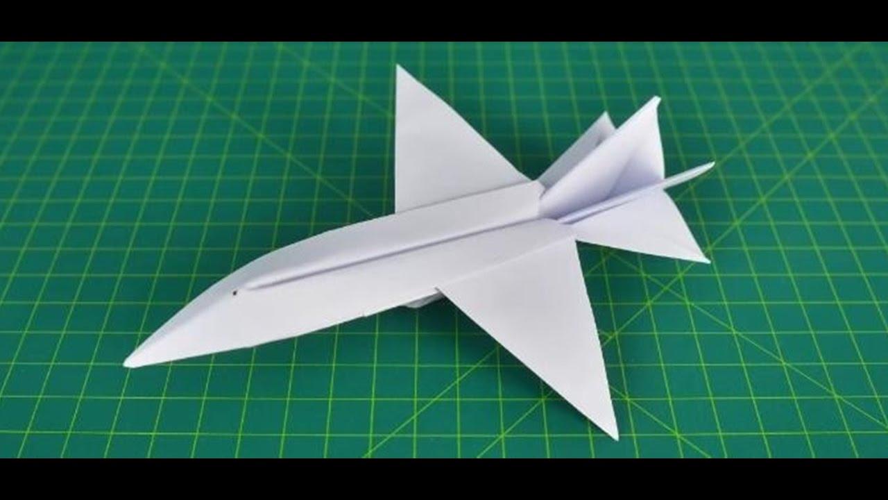 Kağıttan yapılmış basit ve çok güzel uçaklar