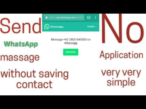No Application || Send WhatsApp message without saving contact