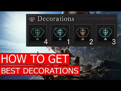 HOW TO GET BEST DECORATIONS / MELDING RITUAL REROLL / SAVESCUM EXPLOIT - MONSTER HUNTER WORLD