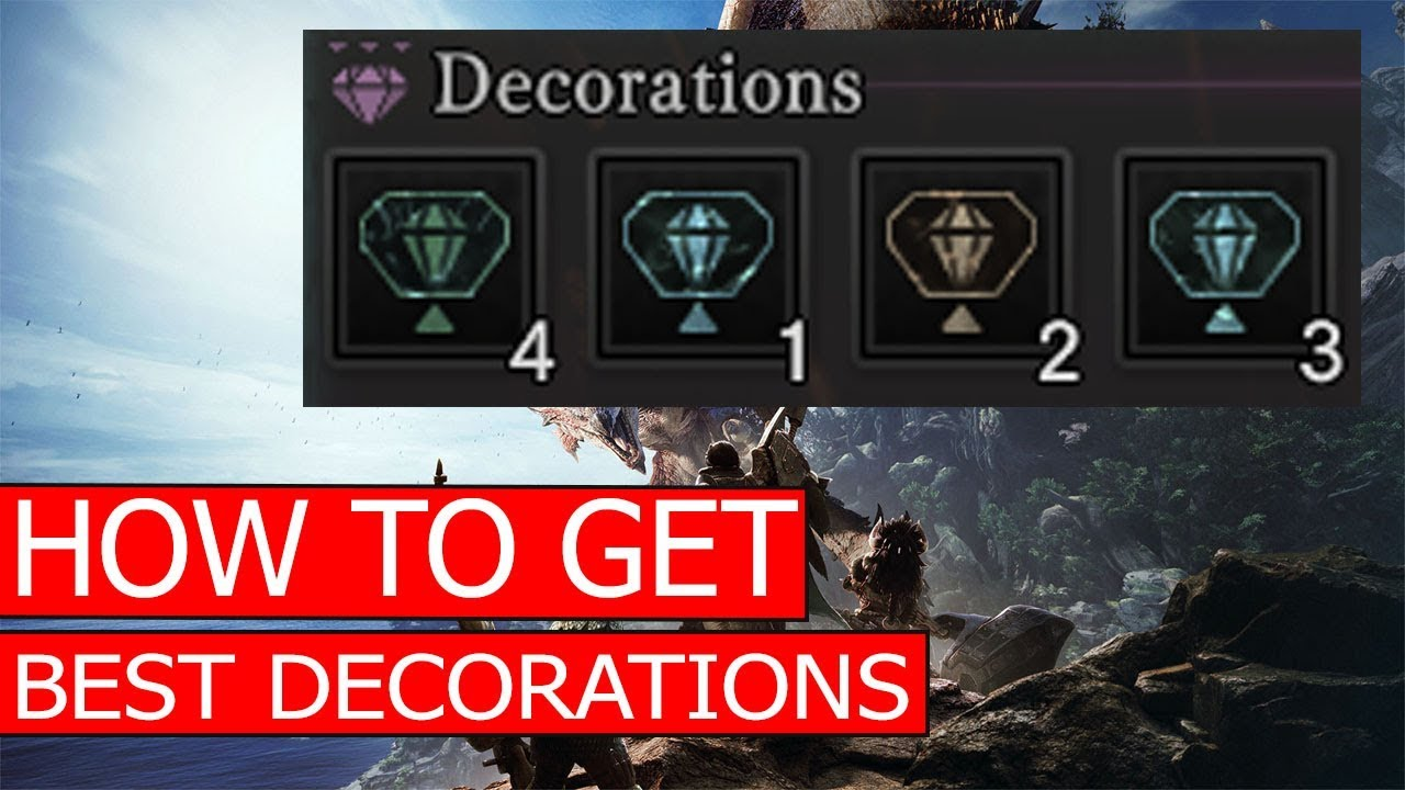 How to get best decorations melding ritual reroll for Decorations monster hunter world