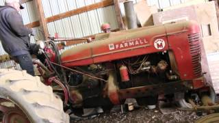 Farmall Case IH Super M Old Start Cold Start (Sat 10 Years)