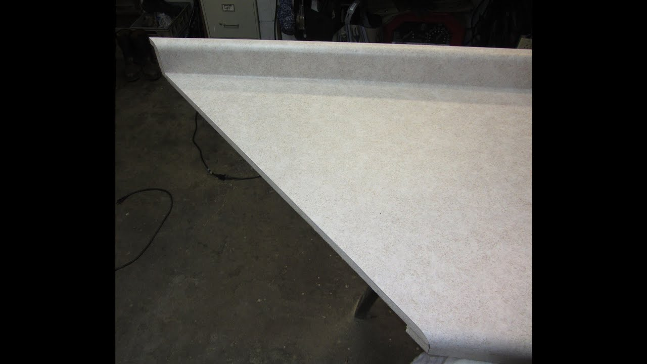 MITER A LAMINATE COUNTERTOP- How to - YouTube