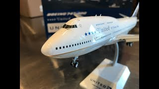 Boeing 747 50th Anniversary Unboxing Special, United Final Flight UA747, JC Wings 1/200, Flaps Down