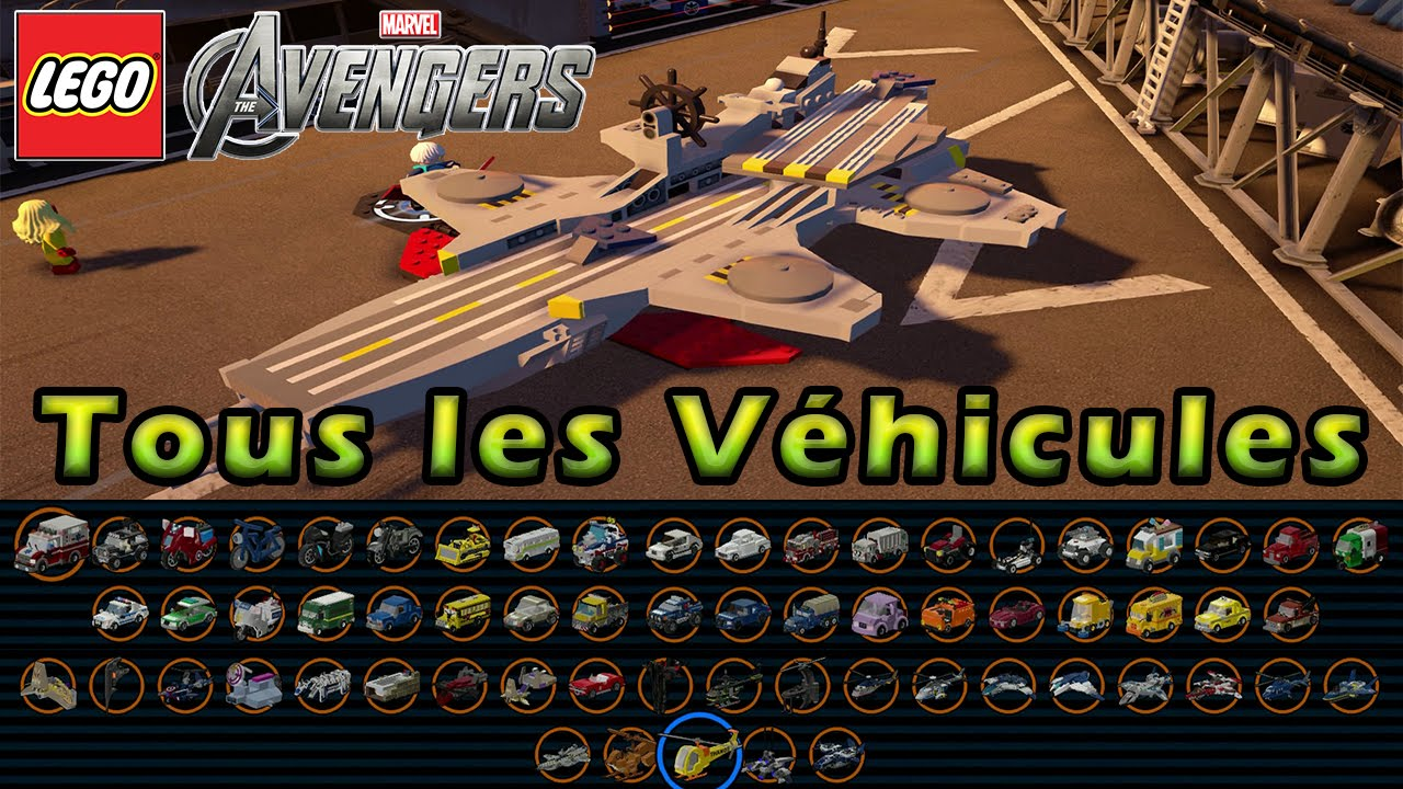lego marvel avengers les vehicules youtube. Black Bedroom Furniture Sets. Home Design Ideas