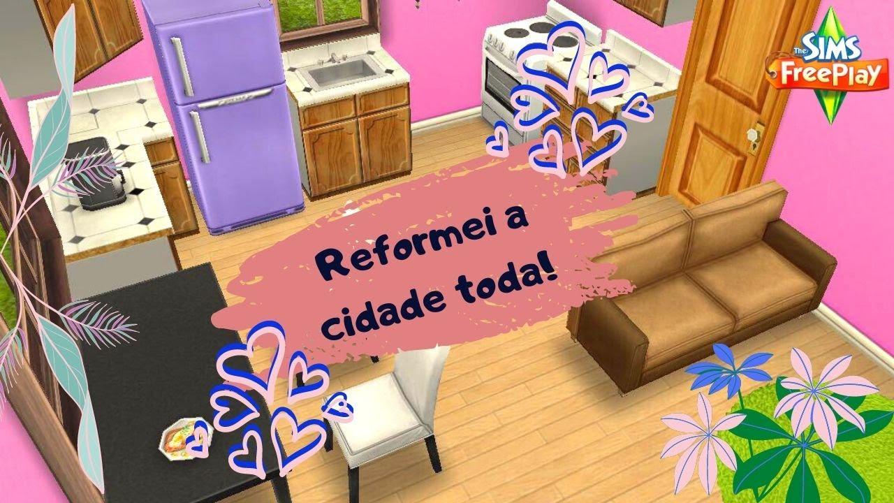 REFORMEI TODAS AS CASAS DA CIDADE! | The Sims FreePlay