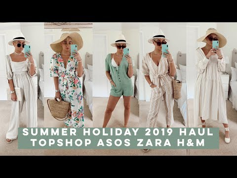 2019 HIGH STREET SUMMER HOLIDAY HAUL | TOPSHOP, H&M, ZARA, ISAWITFIRST | Olivia Rose Smith