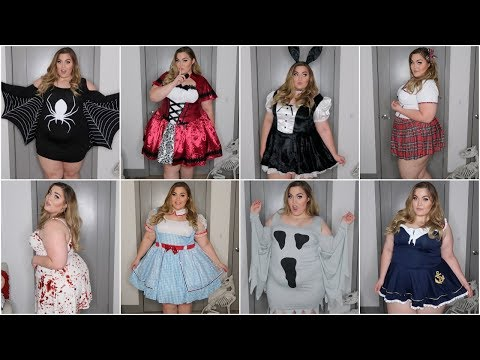 EASY Plus-Size Halloween Costumes under $25! Try-On & Haul *Last Minute Costume Ideas*
