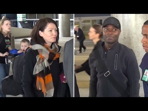 'Selma' Actor David Oyelowo Arrives At LAX With Wife Jessica