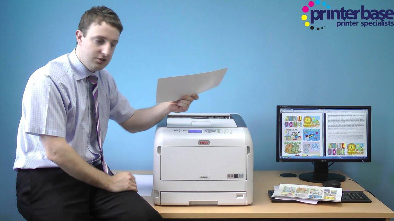 7aecba858 OKI C800 Range Print Test by Printerbase - YouTube