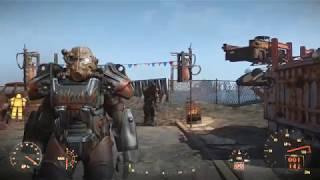 Fallout4 Силовая броня Атомных Котов Т-60 на первом уровне