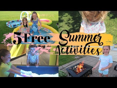 5 FREE SUMMER ACTIVITIES | SUMMER FUN FOR KIDS | FREE FUN IDEAS FOR KIDS THIS SUMMER