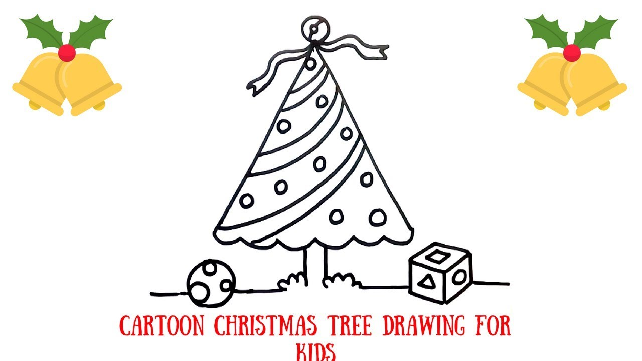 How To Draw A Christmas Tree Step By Step For Beginners.How To Draw A Christmas Tree Simple Drawing Tutorial For Beginners Cartoon Christmas Tree For Kids