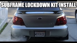 EVERY SUBARU NEEDS THIS! What a difference! - Perrin Subframe Lockdown Kit Install