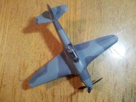 Сборка Як-3 Звезда 1:48 - шаг 2. Базовая покраска, камуфляж, фильтр