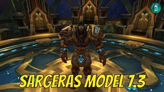 Sargeras Model in the Seat of the Pantheon patch 7.3 PTR