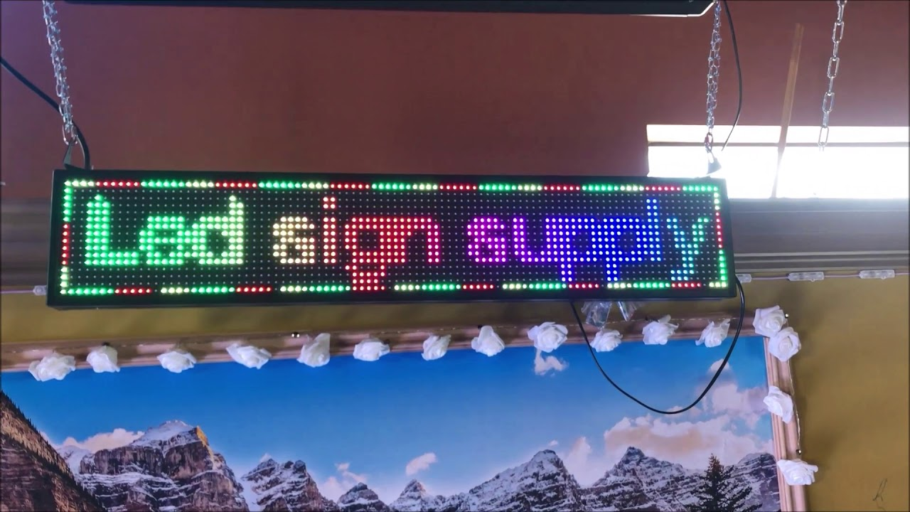 "Led sign o10 inside size 39"" x 8"" the price $160"
