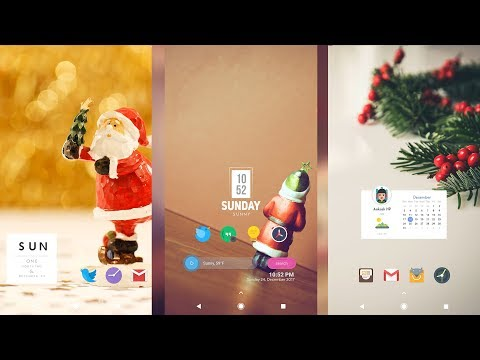 5 Best Android Home Screen Setups | Christmas Edition!