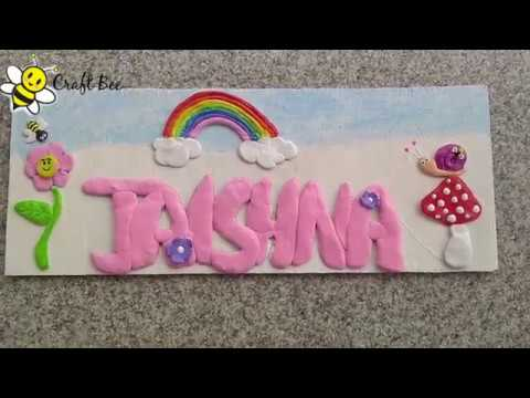 Diy Easy Kids Room Name Plate Handmade Name Plate Ideas Youtube