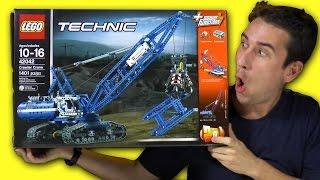 Lego Technic Crawler Crane Set 42042 | Unboxing Building Review