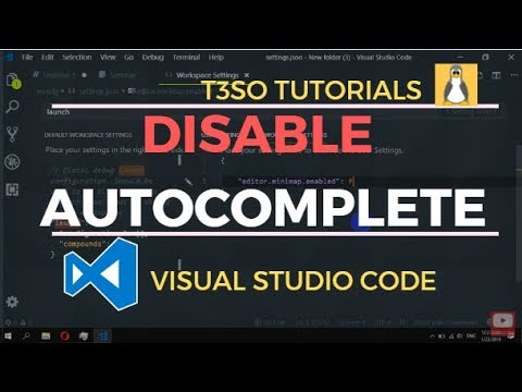 How to Disable autocomplete in Visual Studio Code
