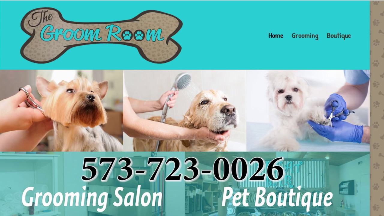 The Groom Room, full-service dog grooming salon in Camdenton - YouTube