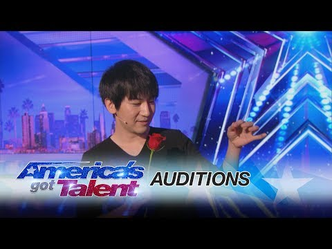 Visualist Will Tsai: Close-Up Magic Act Works With Cards and Coins - Americas Got Talent 2017