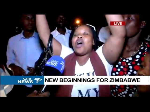 Jubilant Zimbabweans still celebrating on the streets