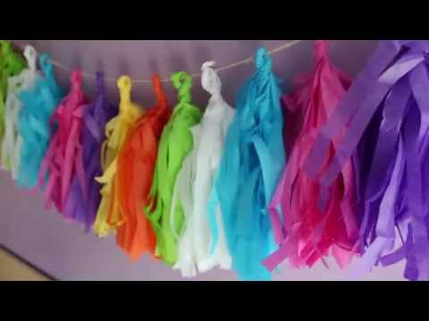 DIY - Tissue Tassel Garland