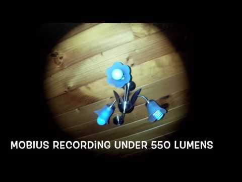 Torch flashlight LED CREE test 550 vs 1500 lumens With MOBIUS Camera