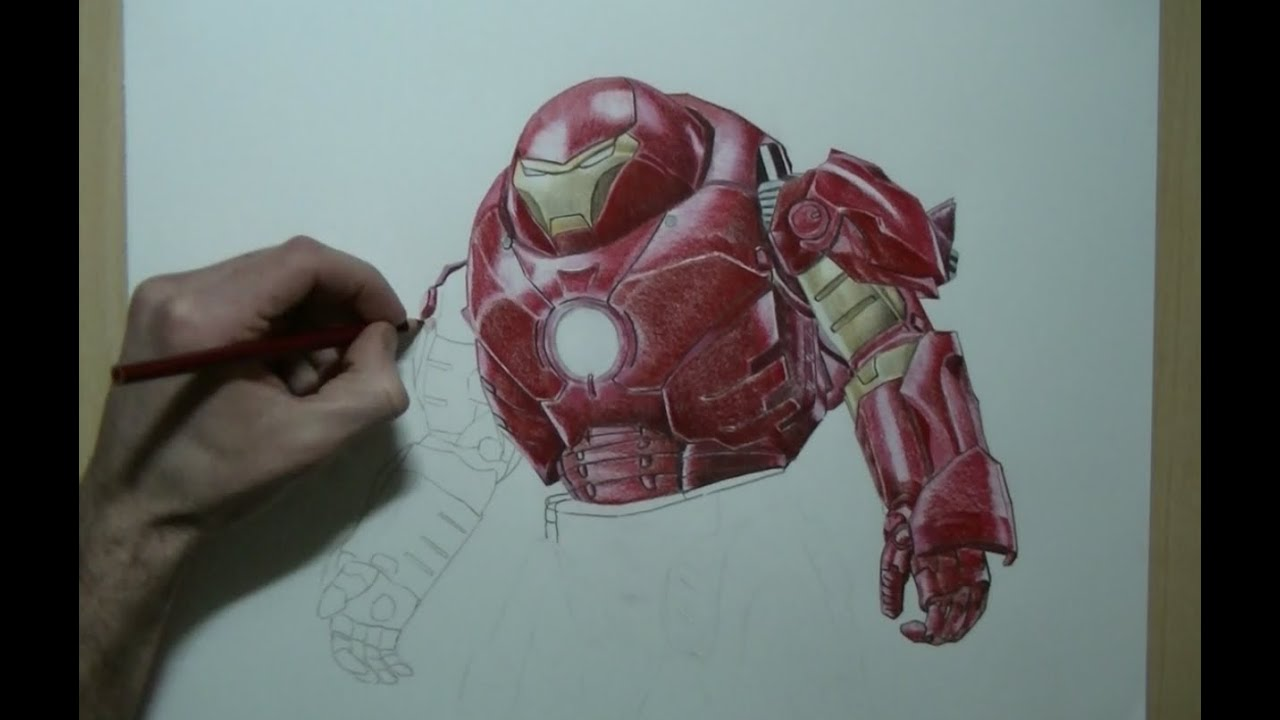 Drawing Iron Man Hulkbuster Avengers