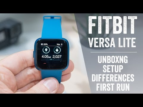 Fitbit Versa Lite: Unboxing, Tech Specs, First Run, Comparisons!